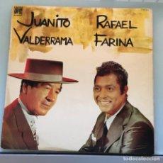 Discos de vinilo: JUANITO VALDERRAMA - RAFAEL FARINA . LP . 1976 CAUDAL. Lote 235504550