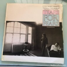 Discos de vinilo: TEARS FOR FEARS - EVERYBODY WANTS TO RULE THE WORLD . MAXI SINGLE . 1985 MERCURY. Lote 235508950