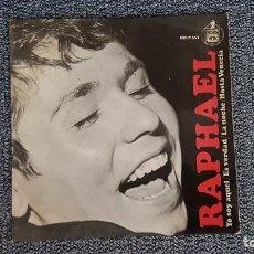 Discos de vinilo: RAPHAEL - YO SOY AQUEL-ES VERDAD-LA NOCHE-HASTA VENECIA. AÑO 1966. EDITADO POR HISPAVOX. Lote 235510505