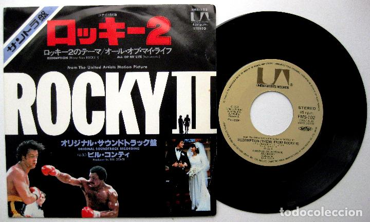 BILL CONTI - REDEMPTION (THEME FROM ROCKY II) - SINGLE UNITED ARTISTS 1979 JAPAN BPY (Música - Discos - Singles Vinilo - Bandas Sonoras y Actores)