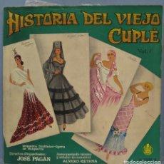 Discos de vinilo: LP. HISTORIA DEL VIEJO CUPLE VOL.1. Lote 235552075