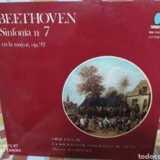 Discos de vinilo: BEETHOVEN SINFONIA 7 EN LA MAYOR OP. 92. TURQUESA 1974. LP VINILO BUEN ESTADO. Lote 235552170