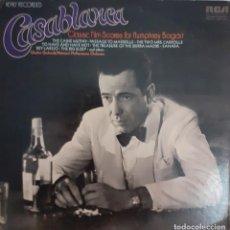 Discos de vinilo: CASABLANCA CLASSIC FILM SCORES. CHARLES GERHARDT DIRECTOR. Lote 235568835