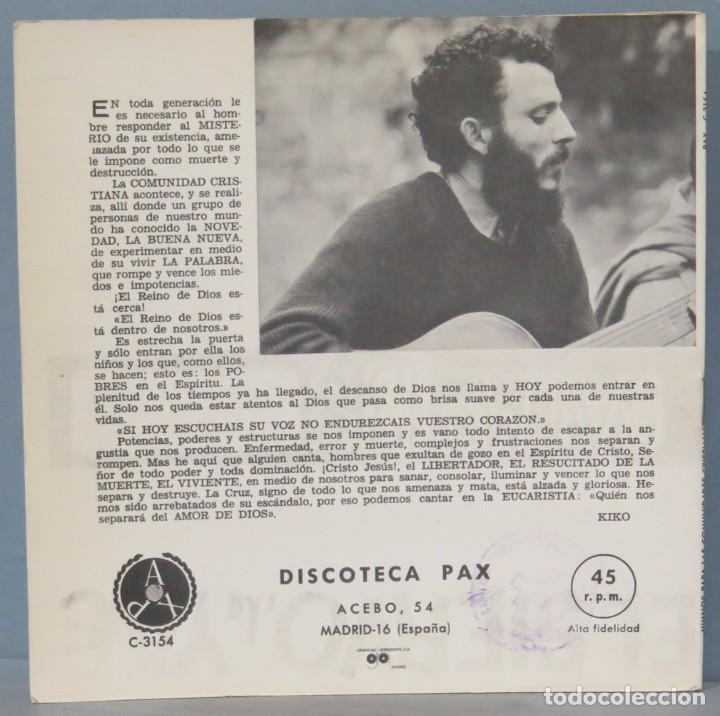 Discos de vinilo: KIKO ARGUELLO. HIMNOS PARA LAS COMUNIDADES CRISTIANAS - Foto 2 - 235570430
