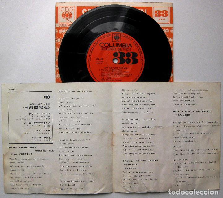 Discos de vinilo: Temas de Películas Del Oeste - How The West Was Won - EP CBS Columbia 1963 Japan BPY - Foto 3 - 235571855
