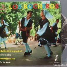 Discos de vinilo: EP. LOS BOCHEROS. QUIEN TIRO LA PIEDRA. Lote 235572605