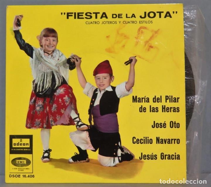 EP. FIESTA DE LA JOTA. CUATRO JOTEROS Y CUATRO ESTILOS (Música - Discos de Vinilo - EPs - Étnicas y Músicas del Mundo)