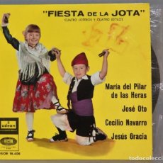 Discos de vinilo: EP. FIESTA DE LA JOTA. CUATRO JOTEROS Y CUATRO ESTILOS. Lote 235572770
