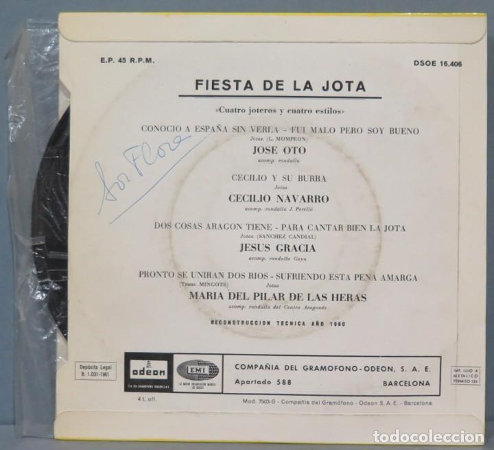 Discos de vinilo: EP. FIESTA DE LA JOTA. CUATRO JOTEROS Y CUATRO ESTILOS - Foto 2 - 235572770