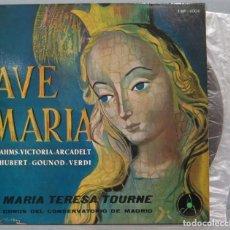 Discos de vinilo: EP. AVE MARIA. MARIA TERESA TOURNE. Lote 235573665