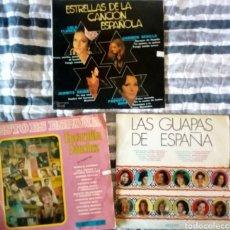 Discos de vinilo: LOTE 3 LP CANTANTES FEMENINAS: ESTRELLAS ESPAÑOLAS, LAS GUAPAS DE ESPAÑA.... Lote 235575155