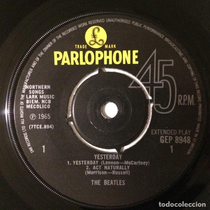 Discos de vinilo: The Beatles – Yesterday EP45 UK - Foto 3 - 223220168