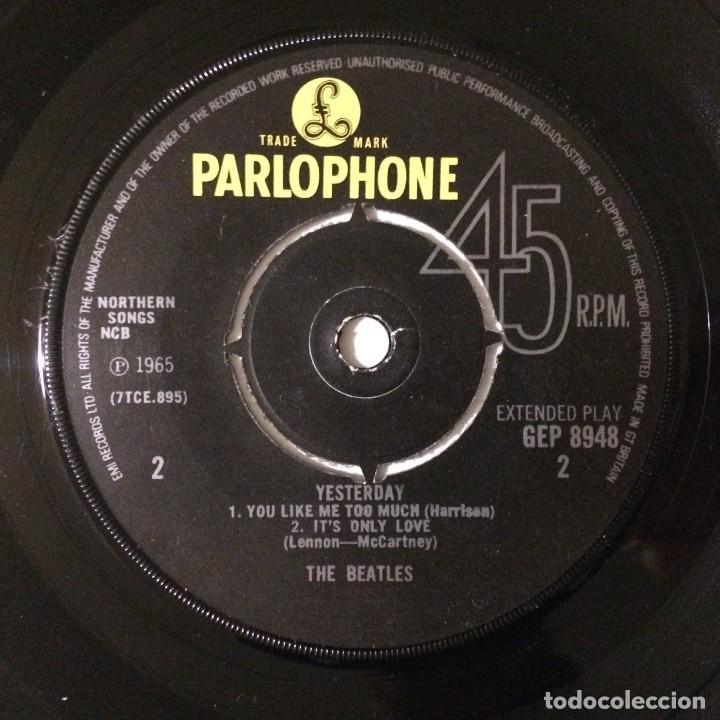 Discos de vinilo: The Beatles – Yesterday EP45 UK - Foto 4 - 223220168