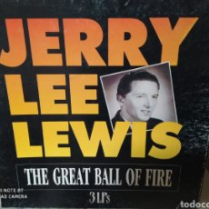 Discos de vinilo: JERRY LEE LEWIS–THE GREAT BALL OF FIRE . CAJA CON 3 LPS. Lote 235603140