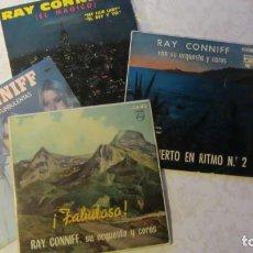Discos de vinilo: LOTE DE 4 DISCOS E.P. DE RAY CONNIFF SU ORQUESTA Y COROS -AÑOS 60-. Lote 235610155
