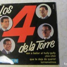 Discos de vinilo: DISCO E.P. DE 1964 DEL GRUPO -LOS 4 DE LA TORRE- FIRMADO POR LOS MUSICOS. Lote 235610465