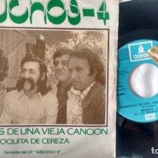 Discos de vinilo: SINGLE ( VINILO) -PROMOCION- DE GAUCHOS 4 AÑOS 70. Lote 235621610