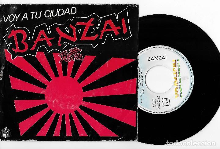 """BANZAI 7"""" SPAIN 45 VOY A TU CIUDAD+TU REAL SALVADOR 1983 SINGLE VINILO HARD ROCK HEAVY METAL HISPAVO (Música - Discos - Singles Vinilo - Heavy - Metal)"""