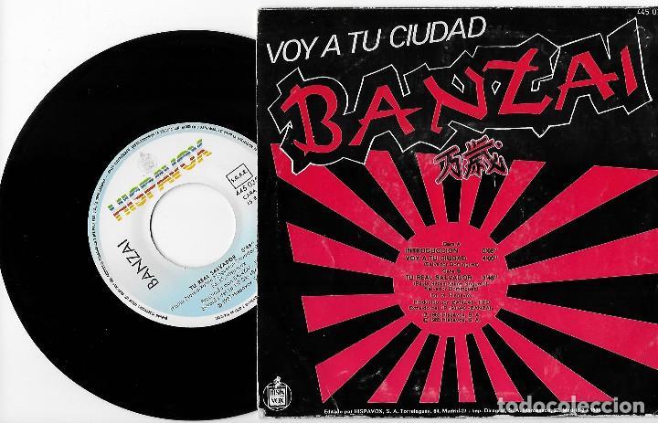 """Discos de vinilo: BANZAI 7"""" SPAIN 45 VOY A TU CIUDAD+TU REAL SALVADOR 1983 SINGLE VINILO HARD ROCK HEAVY METAL HISPAVO - Foto 2 - 235623025"""