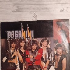 "Discos de vinilo: PAGANINI. SINGLE 7"" "" IT'S A LONG WAY TO THE TOP + FOR YOUR LOVE "". EDICIÓN ALEMANA. 1987. MUY RARO.. Lote 235651425"