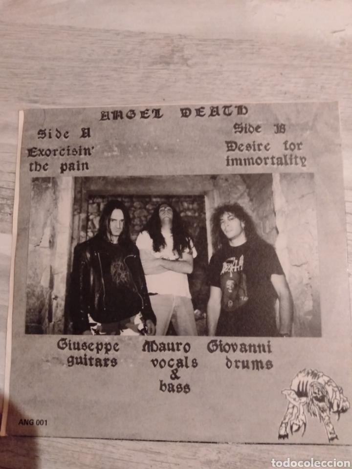 "Discos de vinilo: Ángel Death. Single 7"". "" Exorcisinthe Pain + Desire for Immortality "". 1993. Edición Italia. Raro. - Foto 2 - 235654550"