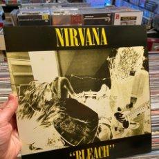 Discos de vinilo: NIRVANA BLEACH LP DISCO DE VINILO AZUL WATERFRONT SUBPOP. Lote 235655595