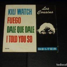 Discos de vinilo: LES COUSINS EP KILI WATCH+3. Lote 235673255