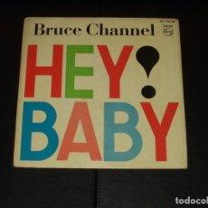Discos de vinilo: BRUCE CHANNEL EP HEY BABY+3. Lote 235674995