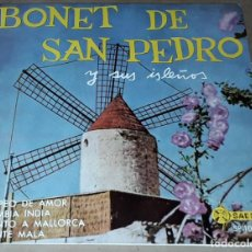 Discos de vinilo: EP- BONET DE SAN PEDRO Y SUS ISLEÑOS - COPEO DE AMOR + 3 - BONET DE SAN PEDRO. Lote 235677660