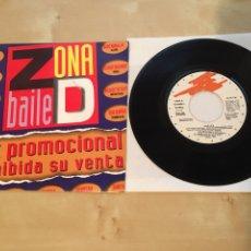 Discos de vinilo: ZONA D BAILE - PROMOCIONAL MIX - PROMO RADIO - MUY RARO - TALEESA INFORMATION SOCIETY BASS BUMPERS. Lote 235682495