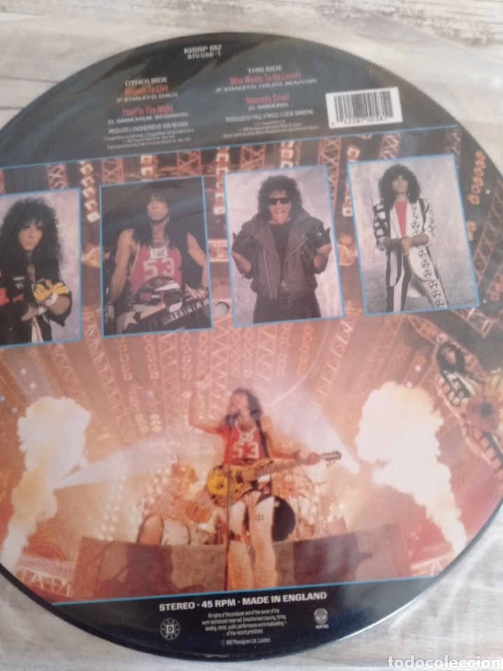 """Discos de vinilo: Kiss """" Reason To Live """". Maxi Single - Picture Disc Límited Edition. 1987. Made in England. - Foto 3 - 235691125"""