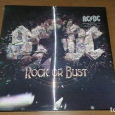 Discos de vinilo: LP + CD AC DC ROCK OR BUST AC/DC PRECINTADO SONY MUSIC 2014 PORTADA HOLOGRAFICA. Lote 57262219