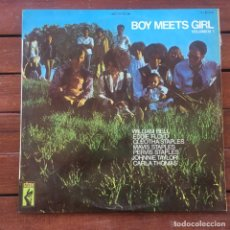 Disques de vinyle: BOY MEETS GIRL . LP . 1969 STAX .JOHNNIE TAYLOR & EDDIE FLOYD / WILLIAM BELL & MAVIS STAPLES Y OTROS. Lote 235692750