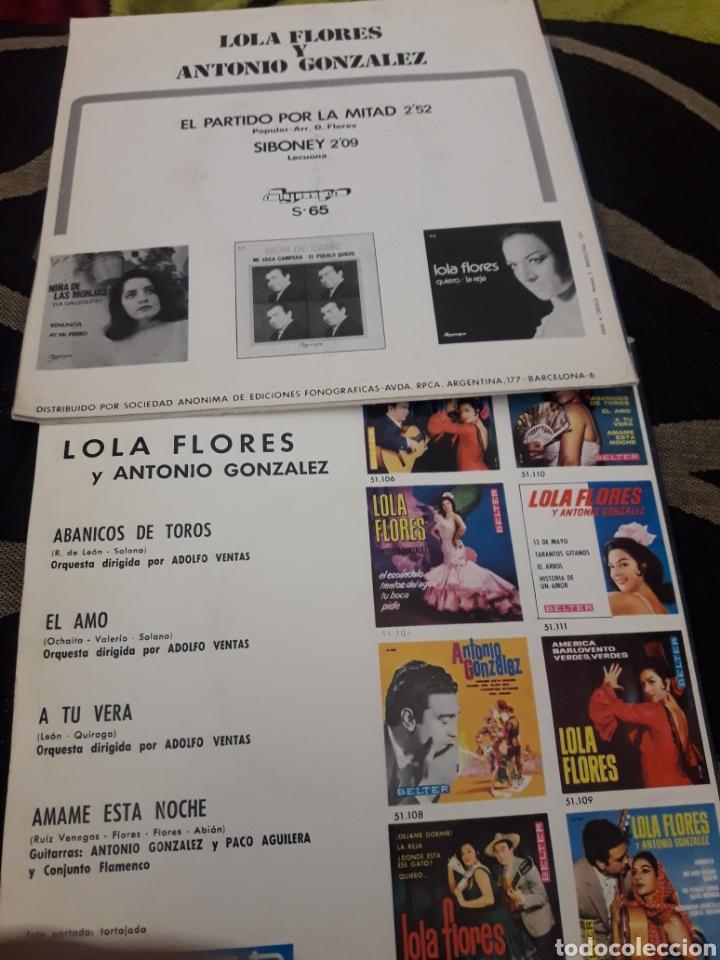 Discos de vinilo: Dos antiguos discos de Lola Flores - Foto 2 - 235700365