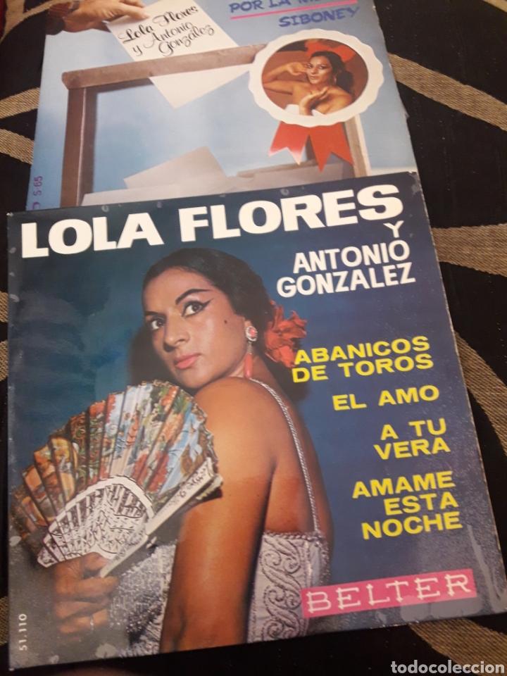 DOS ANTIGUOS DISCOS DE LOLA FLORES (Música - Discos de Vinilo - Maxi Singles - Flamenco, Canción española y Cuplé)