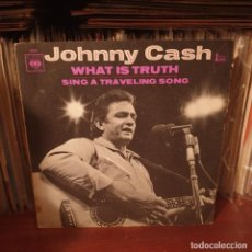 Disques de vinyle: JOHNNY CASH / WHAT IS TRUTH / EDICIÓN FRANCESA / CBS 1970. Lote 235704235