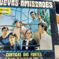 Discos de vinilo: SINGLE (VINILO) DE NUEVAS AMISTADES AÑOS 70 (FESTIVAL DEL MIÑO). Lote 235712960