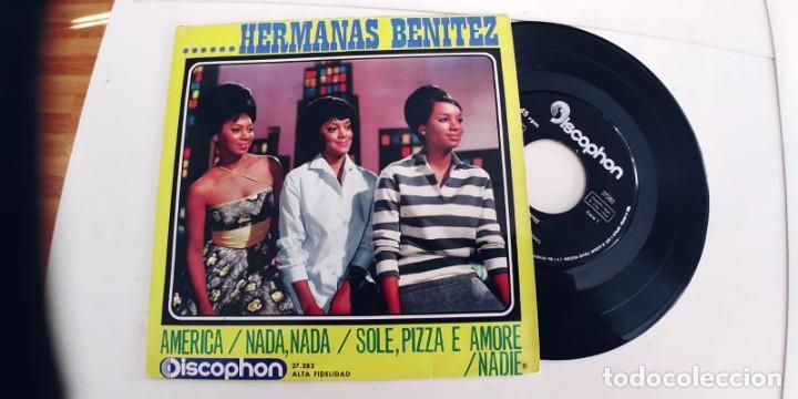 HERMANAS BENITEZ-EP AMERICA +3 (Música - Discos de Vinilo - EPs - Grupos y Solistas de latinoamérica)