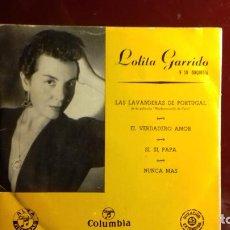 Discos de vinilo: LOLITA GARRIDO ÉPOCA. DE 4 CANCIONES. Lote 235716085