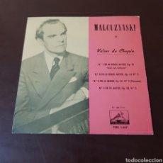 Discos de vinilo: MALCUZYNSKI - VALSES DE CHOPIN - LA VOZ DE SU AMO. Lote 235722660