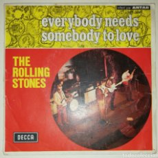 Discos de vinilo: THE ROLLING STONES - EVERYBODY NEEDS SOMEBODY TO LOVE (SINGLE, 1965). Lote 235724100