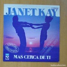 Discos de vinil: JANET KAY - CLOSER TO YOU / ROCK THE RHYTHM - SINGLE. Lote 235724370