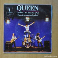 Disques de vinyle: QUEEN - ANOTHER BITES THE DUST / DRAGON ATTACK - SINGLE. Lote 235724460