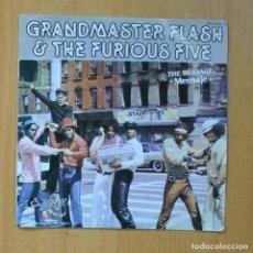 Discos de vinilo: GRANDMASTER FLASH & THE FURIOUS FIVE - THE MESSEGE - SINGLE. Lote 235724475