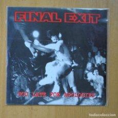 Discos de vinil: FINAL EXIT - SING ALONG + 7 - EP. Lote 235724835