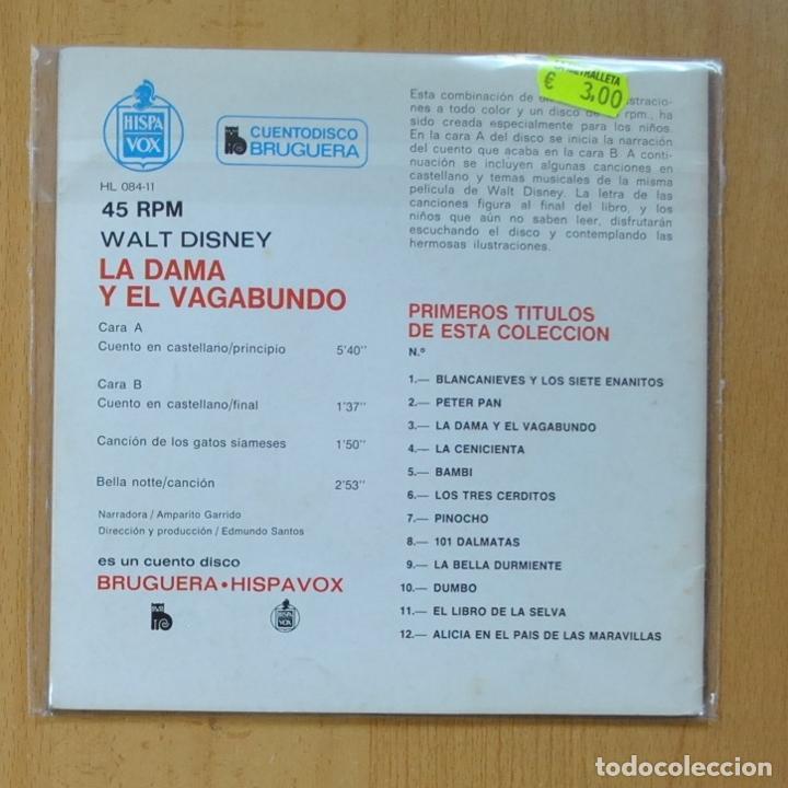 Discos de vinilo: LA DAMA Y EL VAGABUNDO B.S.O. - CANCION DE LOS GATOS SIAMESES + 3 - EP - Foto 2 - 235724995