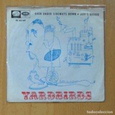 Discos de vinilo: THE YARDBIRDS - OVER UNDER SIDEWAYS DOWN / JEFF´S BOOGIE - SINGLE. Lote 235725045