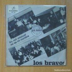 Dischi in vinile: LOS BRAVOS - IT´S NO UNUSAL / NO SE MI NOMBRE - CON TRICENTER - SINGLE. Lote 235725230