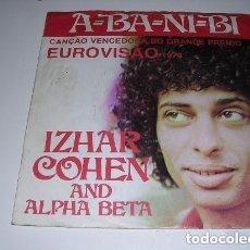 Discos de vinilo: A-BA-NI-BI VENCEDORA EUROVISIÓN 1981 SINGLE EDICIÓN PORTUGUESA. Lote 235727895
