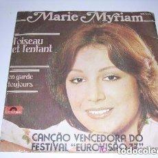 Discos de vinilo: MARIE MYRIAM L'OISEAU ET L'ENFANT GANADORA DE EUROVISIÓN 1977. Lote 235730005
